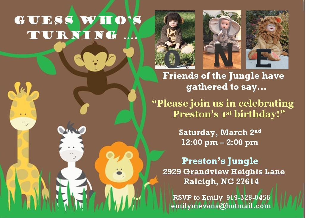First Birthday Jungle Theme